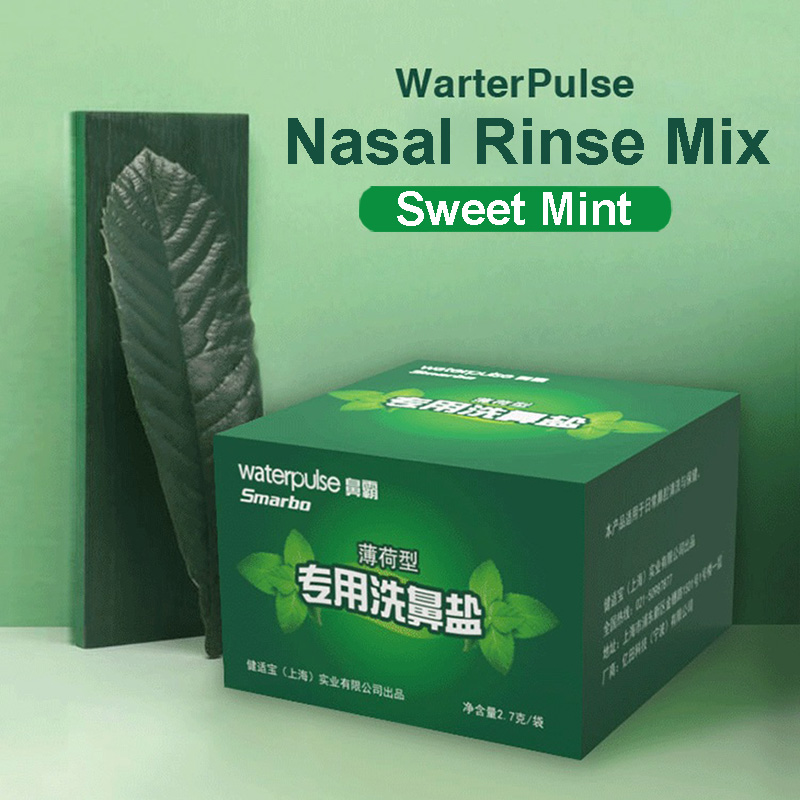 Waterpulse Mint Nasal Rinse Mix Salt 2.7g*30 Mint Sinus Rinse Irritation Gargle for Nose Wash Bottle Oral Irrigator AllergiesWaterpulse Mint Nasal Rinse Mix Salt 2.7g*30 Mint Sinus Rinse Irritation Gargle for Nose Wash Bottle Oral Irrigator Allergies