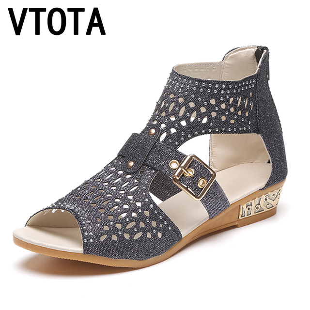 9efbe0afe VTOTA Women Boots Fashion Ankle Boots For Women Summer Boots 2017 Bota  Feminina Casual Women Boots Wedges Women Rome Shoes B66