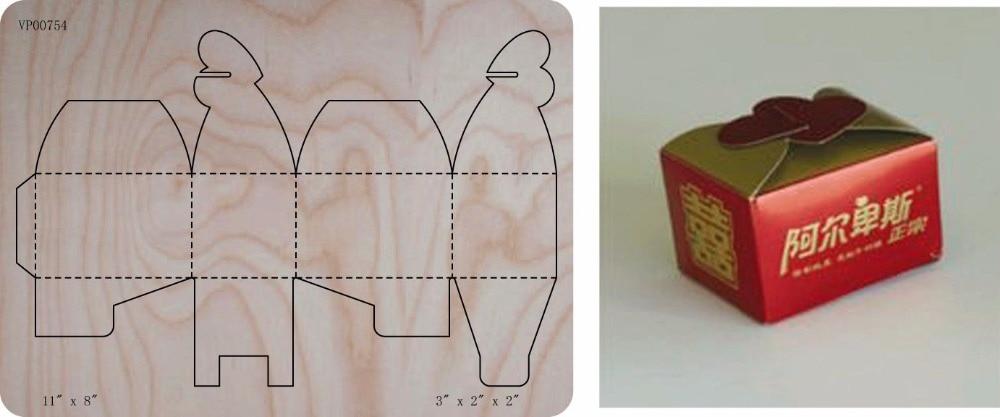 font b Box b font die cut accessories wooden die Regola Acciaio Die Misura font