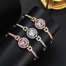 Fashion Luxury Rhinestone Zircon Multi-Layer Bangle Bracelet