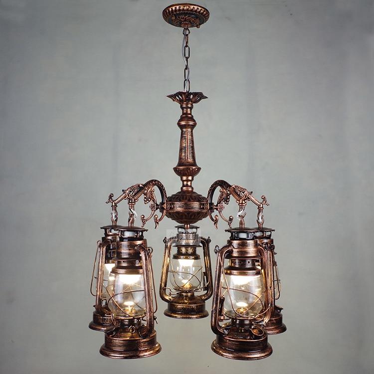Европейский Винтаж индустриальный стиль Ретро Железа керосин подвесные светильники кафе-бар ресторан гостиной лампа