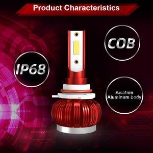 Image 2 - Lâmpada led para o farol do carro h4 h7 h11 h8 led hb4 h1 hb3 h9 9006 9005 luzes do carro lâmpadas led 12v lâmpadas de automóvel 60 w 8000lm