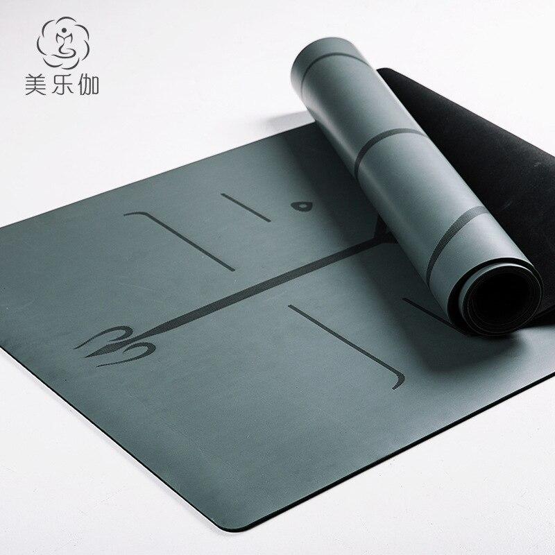 Professionnel yoga tapis de fitness caoutchouc naturel PU position ligne yoga tapis anti-dérapage élargi étendu yoga tapis