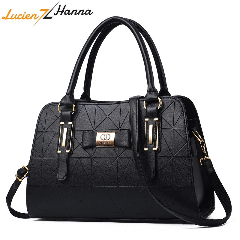 Hot Sale Fashion Women Leather Handbag Inclined Female Bow-knot Shoulder Bags Handbags Lady Shopping Tote Soft Messenger Bag Sac