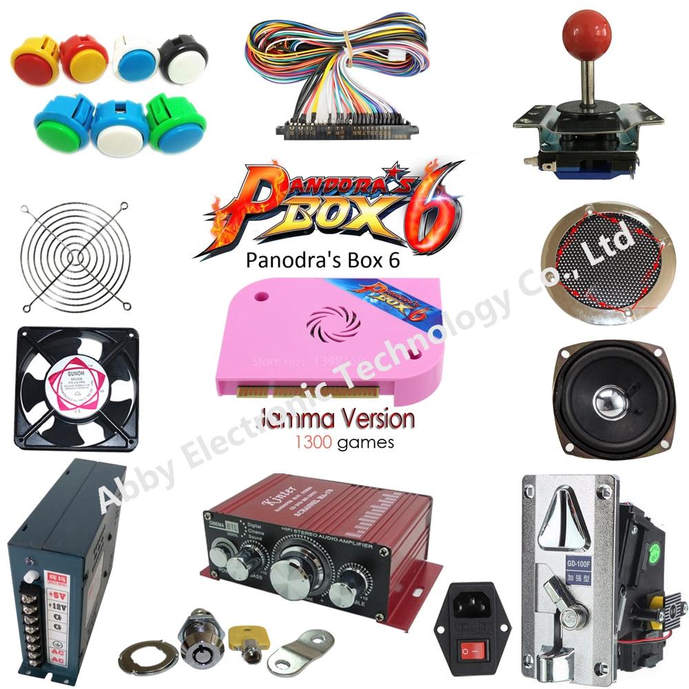 2 Player Arcade Game DIY Kits with Pandora Box 6 American Style Joystick Button Coin door Coin mech Jamma harness Arcade Cabine