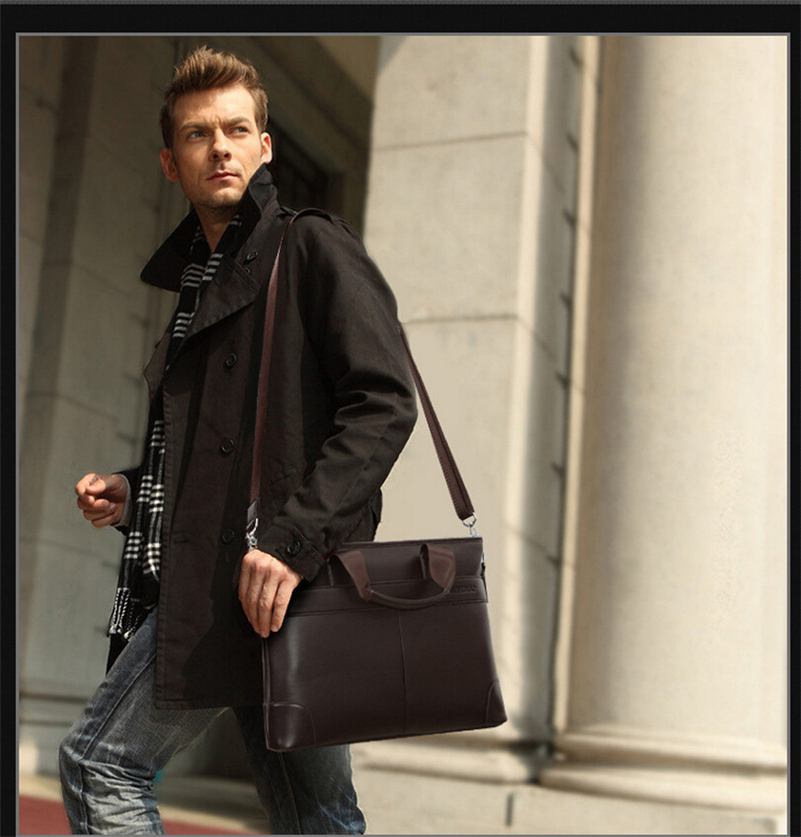Aliexpress.com : Buy Classical Briefcase Black Brown Men Messenger ...