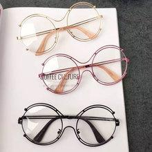 Oversized Fashion Sunglasses Luxury Women Round New Brand Designer New Mirror Lady Female Trend Sun glasses