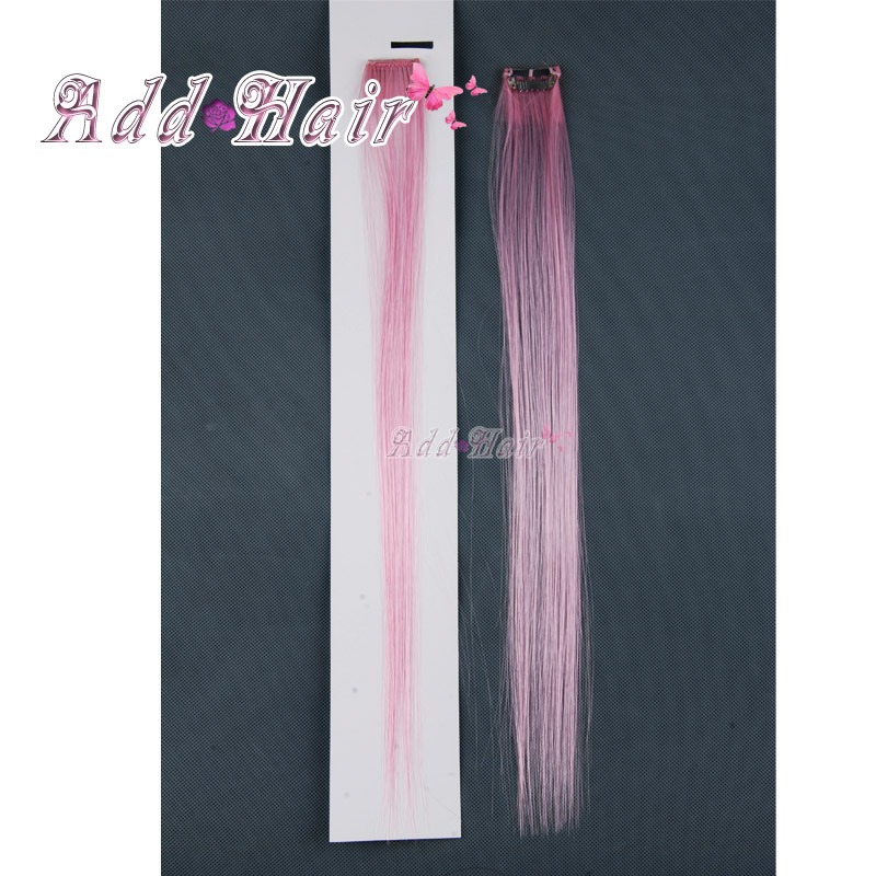 Clip in wavy hair extensions picture more detailed picture about synthetic highlight single straight colored colorful clip on in hair extensionhair piececolour pmusecretfo Images