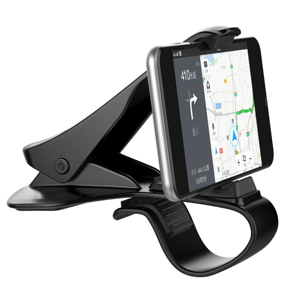 Samsung Under 6.5 Car Dashboard Phone Holder HUD Design Non-Slip Car Phone Mount Stand Universal Phone Holder Cradle with 3 Cable Clip Holders for iPhone Car Phone Mount