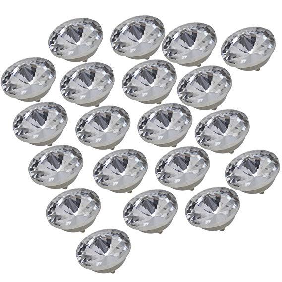 20 Stks 18mm Diamant Heldere Crystal Mooie Bekleding Sofa Decoratie Naaien Knoppen