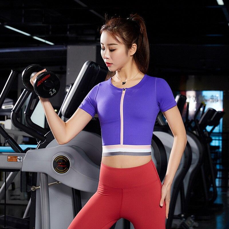 Sexy Neue Kurzarm Esporte Frauen Colheita Tops