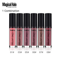 Brand 6Pcs Lot Make Up Matte Liquid Lipstick Moisturizer Long Lasting Soft Lip Gloss Batom Pigment