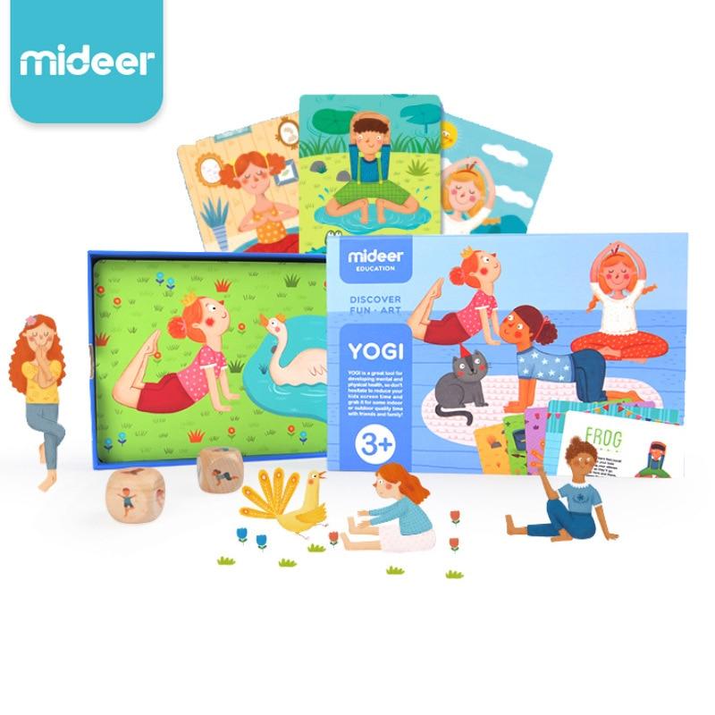 Mideer Familie Yoga Spiel Kognitiven Yogi Karten Baby Fitness eltern-kind-Interaktive Aufklärung Spiel Karte Spielzeug
