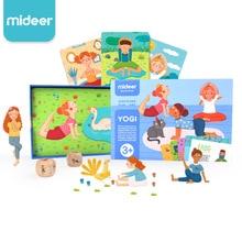 Mideer семья Йога игра познавательные йоги карты детские фитнес родитель-ребенок интерактивное просвещение игра карточные игрушки