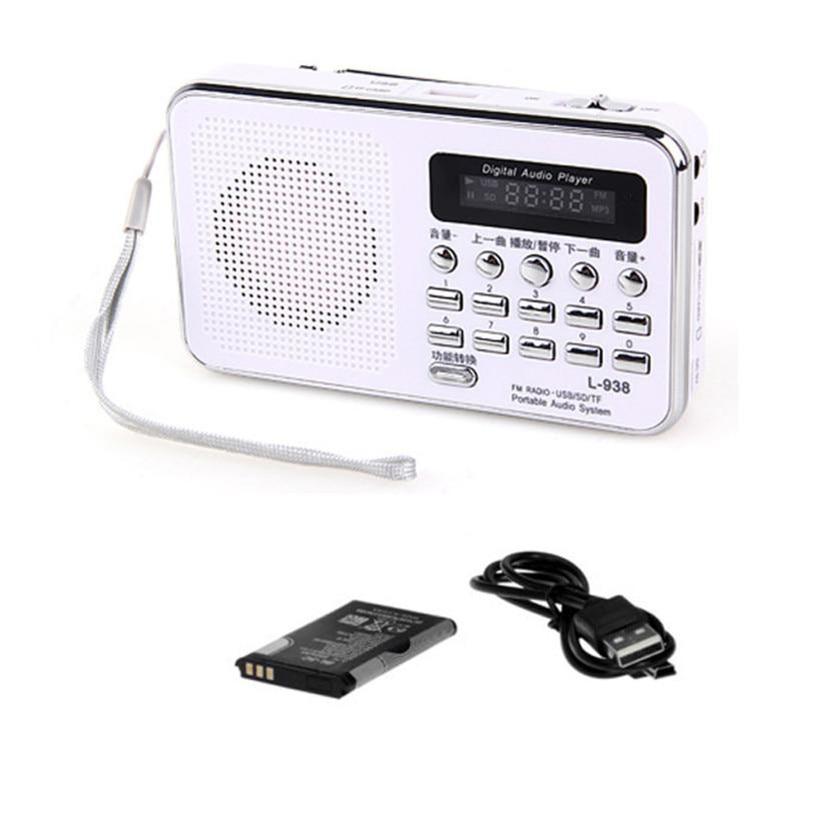 Radio Konstruktiv Fabrik Preis Heiße Mini Digital Tragbare Musik Mp3 Player Micro Sd/tf Karte Lautsprecher Fm Radio Wh Sept13