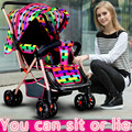 Легкие коляски можете сидеть ложь четыре двунаправленный анти-шок сложенный зонтик багги детская коляска автомобиль BB