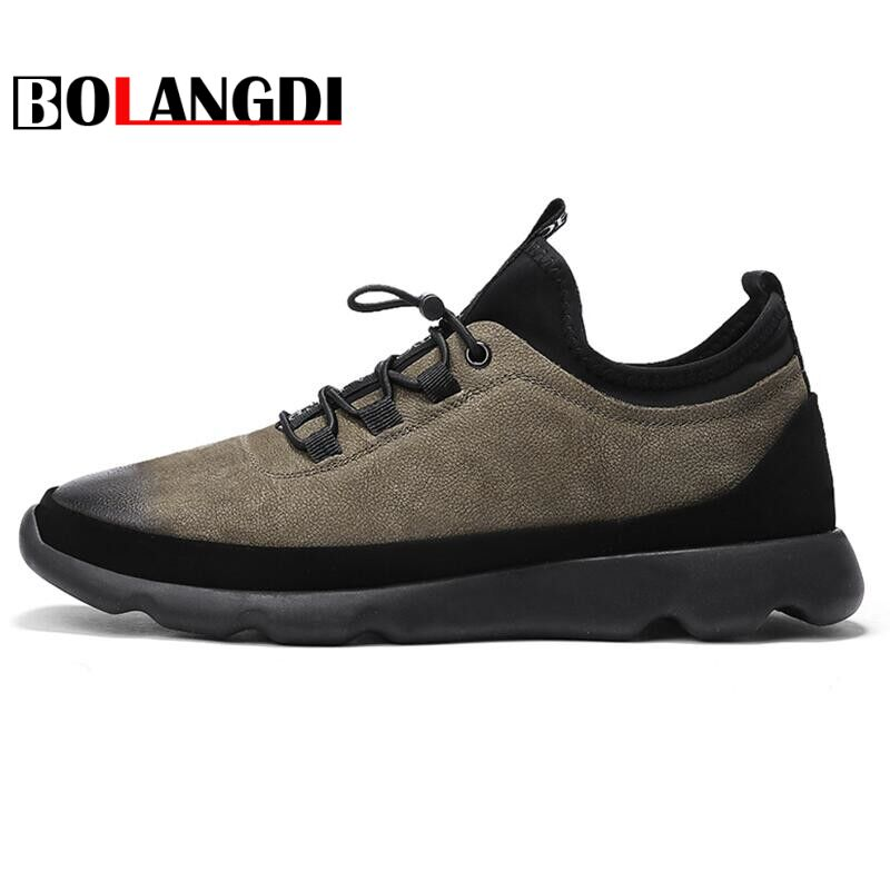 Bolangdi Summer Running Shoes Men Sneakers Breathable Comfortable Genuine Leather Outdoors Sport Athletic Jogging Walking Shoes mulinsen men breathable running shoes summer 2017 shoes men mesh walking shoes sport jogging brand sneakers for men zapatos