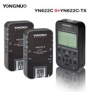 Image 1 - Yongnuo الارسال تحكم YN622C TX 2 قطعة YN622C E TLL فلاش لاسلكي الزناد جهاز الإرسال والاستقبال لكانون YN685 YN600EX RT الثاني