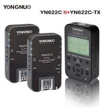 Yongnuo émetteur contrôleur YN622C TX + 2 pièces YN622C E TLL sans fil Flash déclencheur émetteur récepteur pour Canon YN685 YN600EX RT II