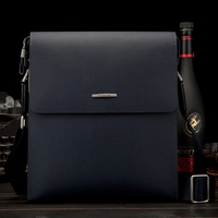 YINTE Men's Shoulder Bags Leather Men Messenger Blue Bags Business Men HandBag Leather Hard Style Men's Bag Portfolio T8331 2