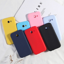 For Samsung Galaxy A5 2017 Case Candy Color Silicone Case For Samsung A50 A7 2018 A6 A8 Plus 2018 A3 A7 2017 TPU Phone Cover цена