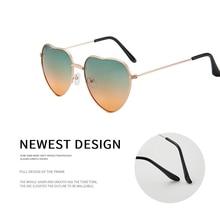 Женские солнцезащитные очки в форме сердца Ретро Металл Love Heart Женщины Урожай Модные