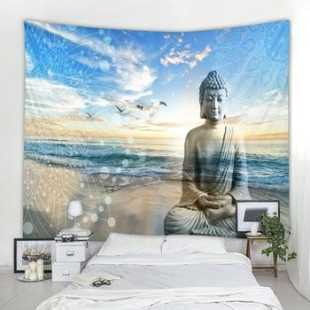 Grande Tenture Bouddha Statue en Méditation