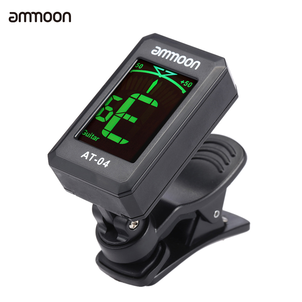 ammoon at 04 clip on guitar tuner automatic digital electronic tuner for acoustic electric. Black Bedroom Furniture Sets. Home Design Ideas