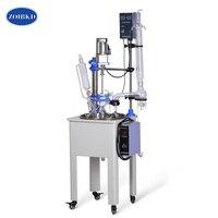 ZOIBKD F 30L Laboratory Equipment Single lined Vacuum Glass Reactor with High Borosilicate GG3.3 with PTFE agitator