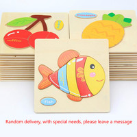 Wooden children's cartoon animals traffic three-dimensional jigsaw puzzle jigsaw puzzle the 1-2-3 - year - old baby