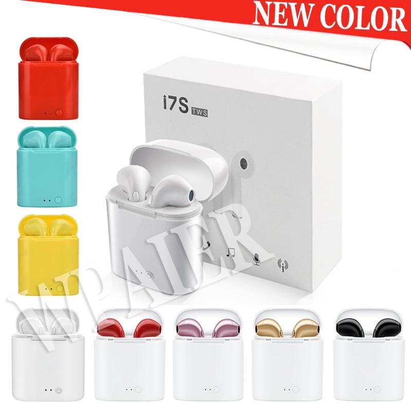 New Upgrades I7 Mini TWS Bluetooth Earphones Portable Wireless Mini Headphones With Charging Box Multiple Color Choices/ I7S TWS