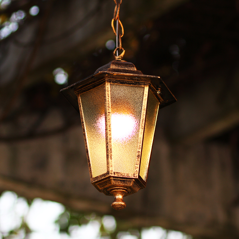 Retro Outdoor Hanging Lamp Waterproof