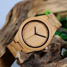 BOBO BIRD WG27 Unisex Bamboo Watch Men Quartz Watches Full Bamboo Brand Designer as Best Gift For Men Women Gift Wood Box