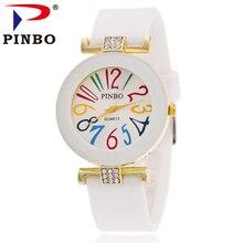 2016 Женева Топ Люксовый Бренд открытый Спорт Кварцевые Часы Моды силиконовые Часы Женщины платье часы Relojes Mujer часы