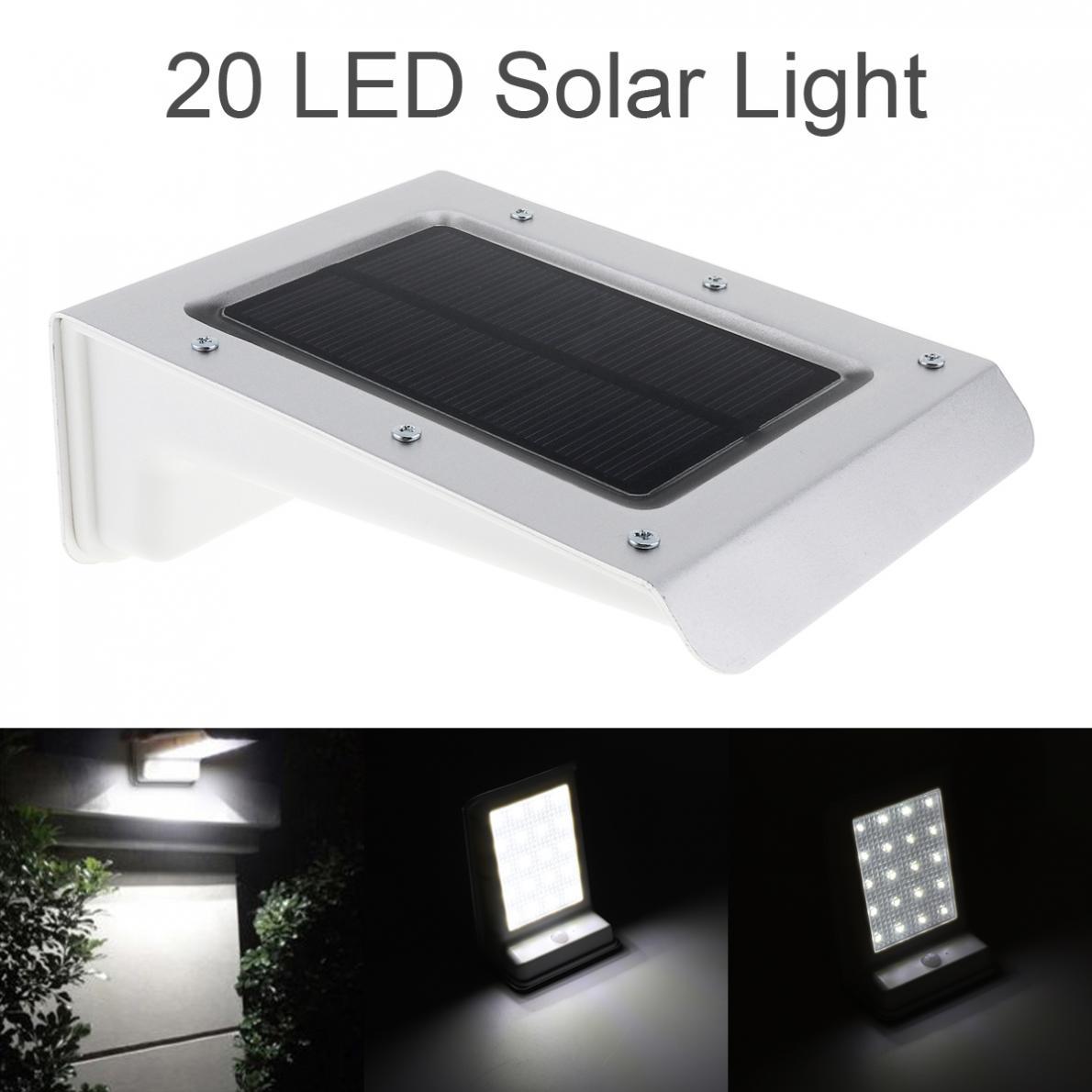 À Prova D' água Durável 20 LED De Energia Solar Ao Ar Livre Lâmpada PIR Motion Sensor De Luz De Segurança