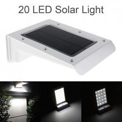 Водонепроницаемый прочный 20 светодиодный уличный сенсорный фонарь с солнечной батареей PIR датчик движения