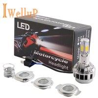2015 New H4 32W 3000LM LED Motorcycle Headlight Bulb Headlamp High Low Conversion Beam Driving Headlamp