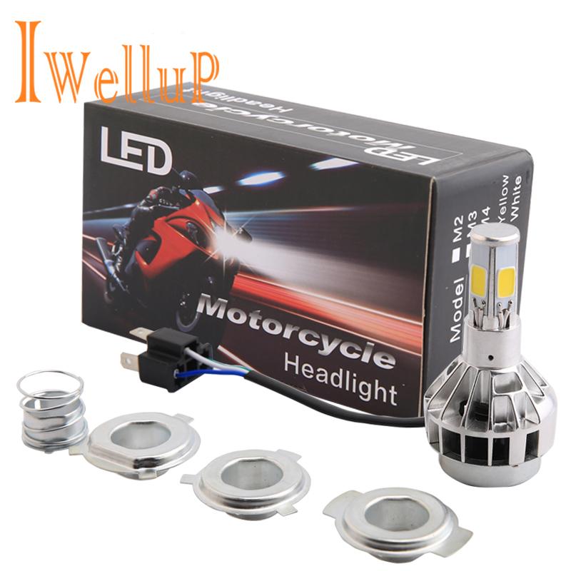 Prix pour Hs1 H4 LED Moto Phare Ampoules Moto Lumière Brouillard Lumières Fit Harley Suzuki Ktm Exc Café Racer moto Accessoires