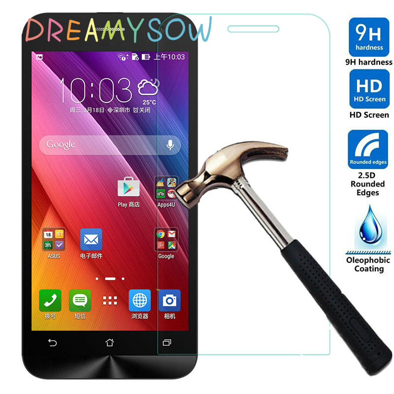 Tempered Glass For ASUS Zenfone 4 5 6 2 Laser C A400CG A450CG Padfone S X PF500KL High Quality Screen Protector Film DREAMYSOW