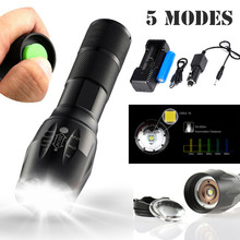 5000LM T6 LED Zoomable Flashlight Waterproof Torch BICYCLE Light Lamp 18650 New AUGUST10