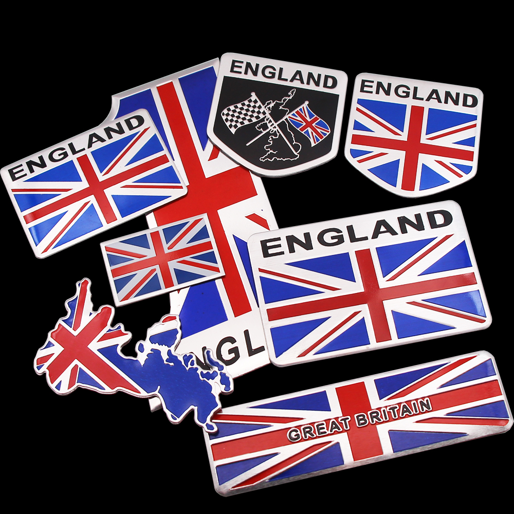 England Flag Car Stickers United Kindom Emblem UK Badge Decal For BMW Audi Ford KIA Land Rover Mini Cooper Jaguar Auto Styling