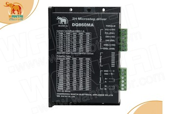(USA Ship & No Tax) CNC 80VDC,7.8A, 2 phase micro step Bi-PoLar Stepper motor driver DQ860MA Wantai Nema 34 in Engraver