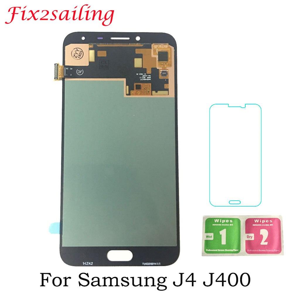 5.5 pouces Super Amoled Pour Samsung Galaxy J4 J400 J400F SM-J400F/DS LCD Affichage à L'écran Tactile Digitizer Pour Samsung j400 Affichage