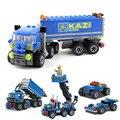 Niños Construir Serie Camión de Building Block Sets 163 + pcs Educación infantil puzzle toy niños regalo de cumpleaños, nave libre JM008