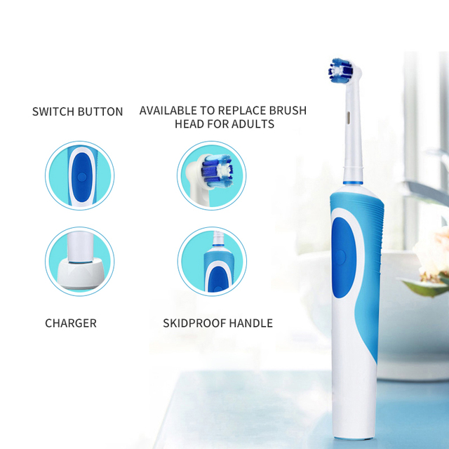 TINTON LIFE Toothbrush Rechargeable Rotate Electric Toothbrush Ultrasonic Toothbrush Inductive Charging D12 Electric Toothbrushes