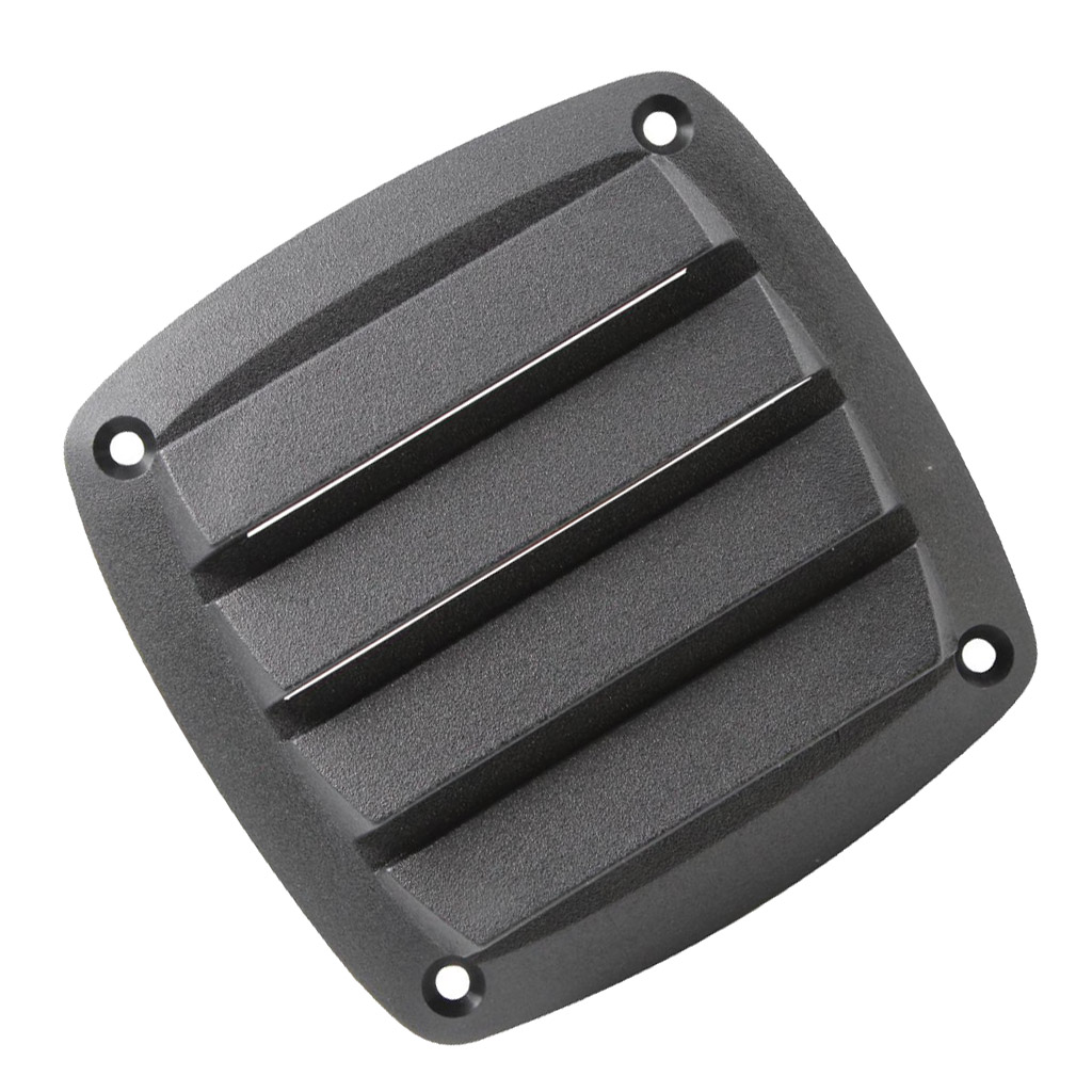 4 inch louvered vents style boat marine hull air vent grill cover black
