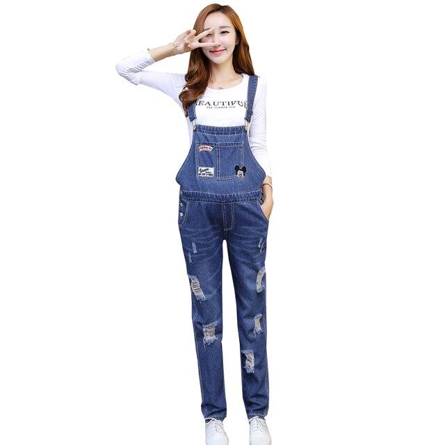 0d9406e82c99d Ripped Maternity Denim Overalls Rompers Pregnant Women Adjustable Waist  Suspender Jeans Jumpsuits Pregnancy Bottoms Bib Pants
