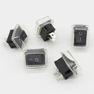 Image 3 - 5 יח\חבילה שחור לדחוף כפתור מיני מתג 6A 10A 110V 250V 2Pin בהצמדה על/כיבוי מתג 21MM * 15MM עם עמיד למים כיסוי שחור
