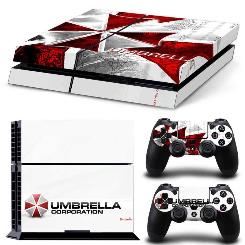Biohazard Umbrella Aufkleber Abdeckung Wrap Beschützer Haut Für Sony Playstation 4 Konsole & 2PCS Controller Haut Aufkleber Für PS4
