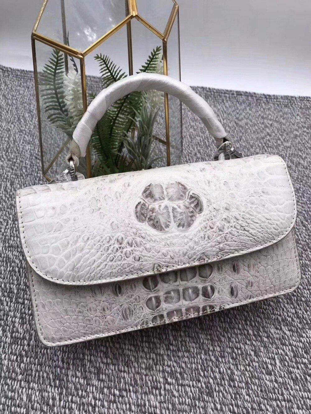 Модные дизайнерские натуральная кожа крокодила Для женщин маленькие белые сумочка кошелек крокодиловой кожи женские Мини щитка сумка